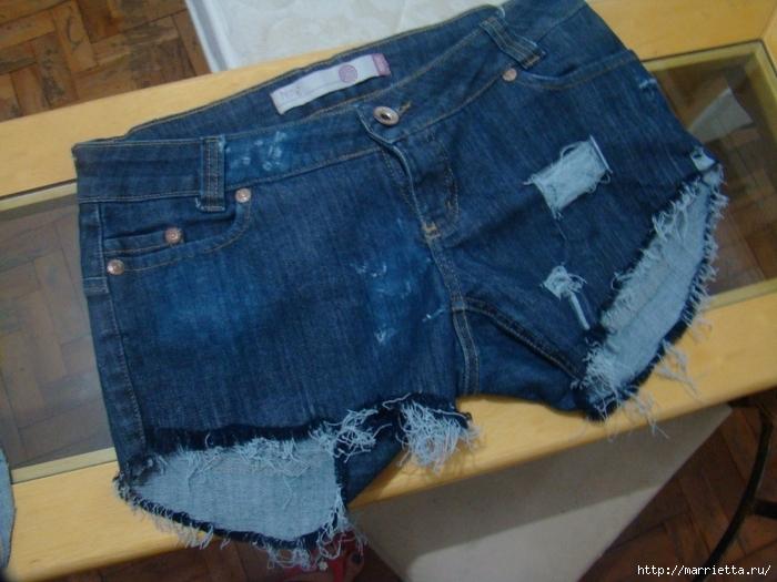 Шорты из джинсов, переделка и модное украшение. Обсуждение на LiveInternet - Российский Сервис Онлайн-Дневников