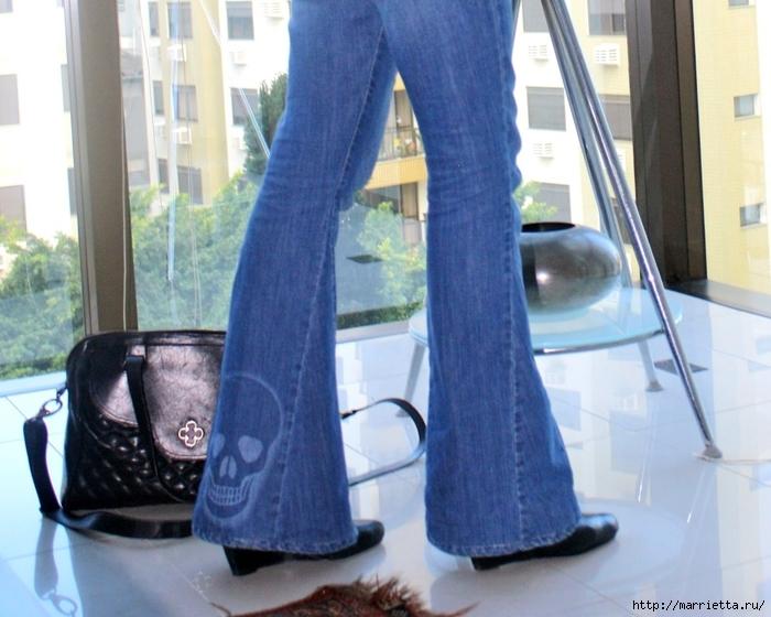 шорты из джинсов, переделка и украшение (29) (700x560, 274Kb)