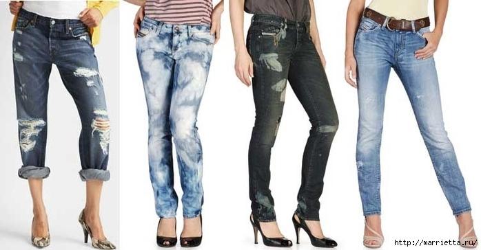 шорты из джинсов, переделка и украшение (32) (700x364, 156Kb)