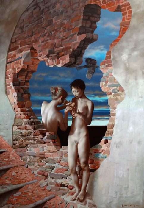 lui-liu-painting-Cats-Cradle (484x700, 122Kb)
