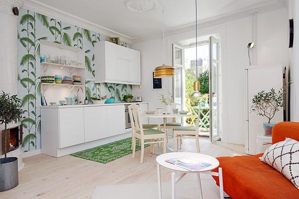 красивый интерьер для маленькой квартиры фото 2 (600x400, 257Kb)