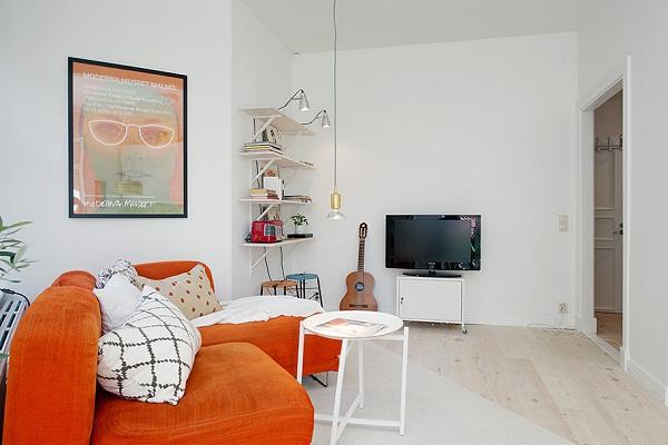 красивый интерьер для маленькой квартиры фото 4 (600x400, 193Kb)