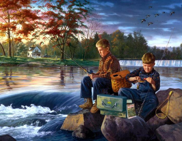 Charles Freitag - Fishing Buddies (700x542, 76Kb)