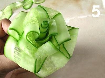 Овощной карвинг. Украшение салатов (11) (400x300, 63Kb)