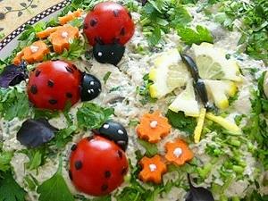 Овощной карвинг. Украшение салатов (15) (300x225, 85Kb)