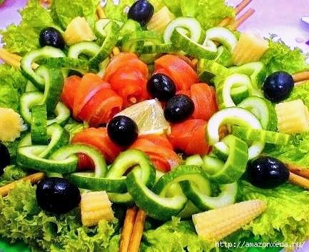 Овощной карвинг. Украшение салатов (28) (433x353, 128Kb)