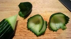 Овощной карвинг. Украшение салатов (36) (300x166, 36Kb)