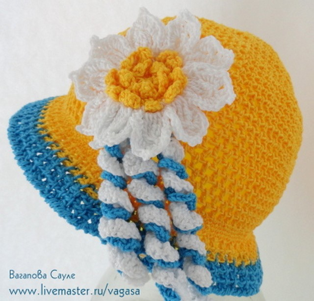 вязаная шляпка с цветком  /5156954_YaM_11 (640x614, 106Kb)