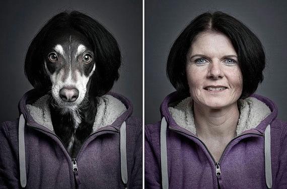 портреты хозяев со своими собаками фото 1 (570x376, 133Kb)