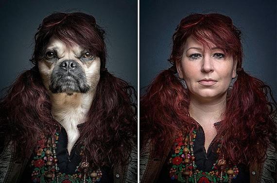 портреты хозяев со своими собаками фото 7 (570x376, 161Kb)