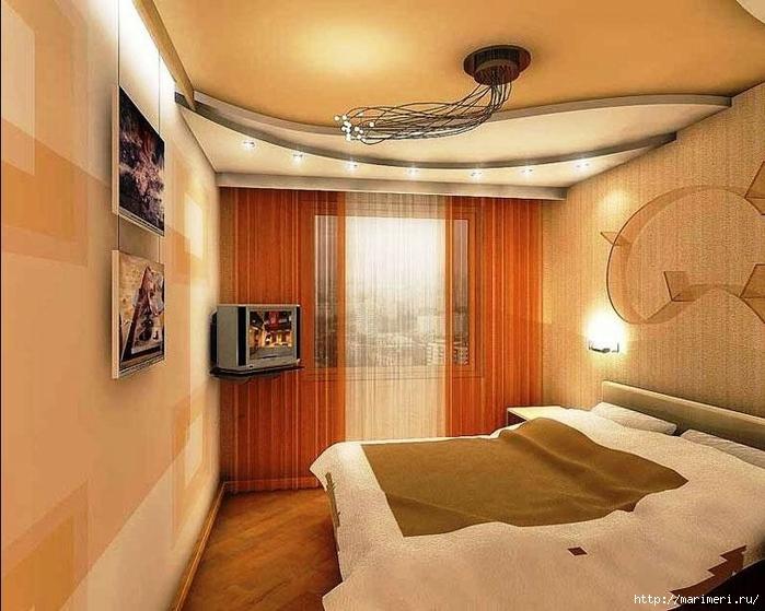Дизайн потолка в маленьких комнатах