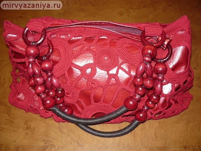 Как обвязать старую сумку своими руками