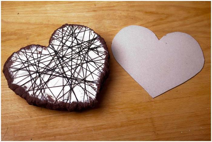 Как сделать кофейное сердечко своими руками