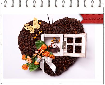 Кофейное сердечко своими руками