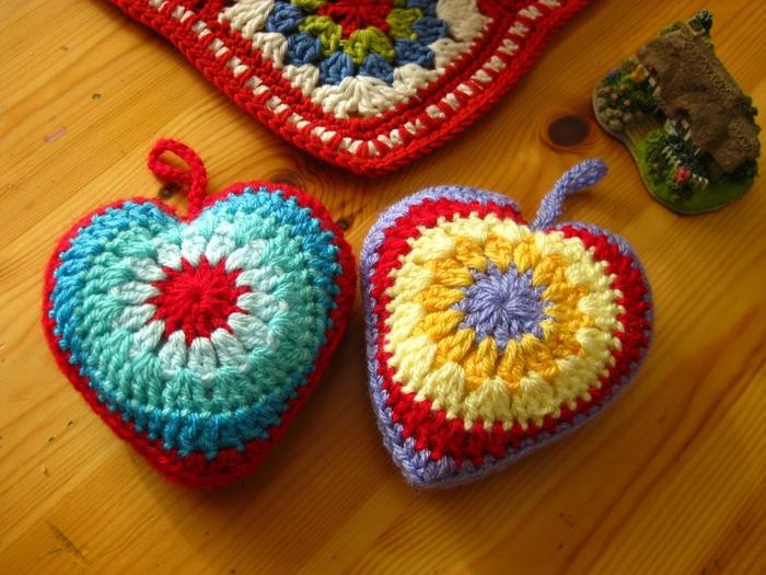 Объемное сердечко вязание крючком
