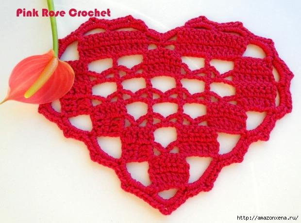 сердечное вязание крючком. сафетки крючком схемы (6) (620x460, 198Kb)