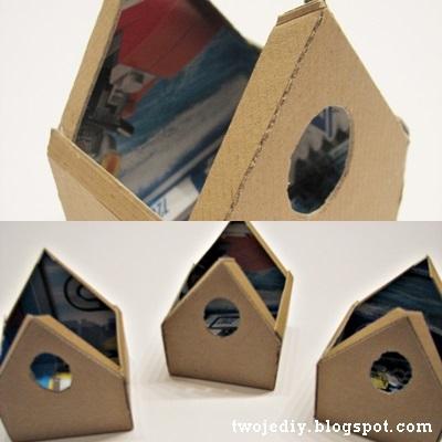 Скворечник из картона своими руками фото