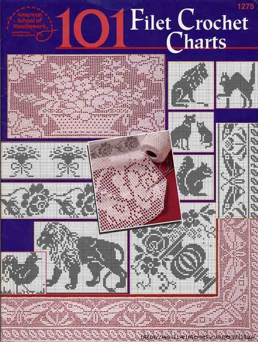 101 Filet Crochet Charts fc (529x700, 404Kb)