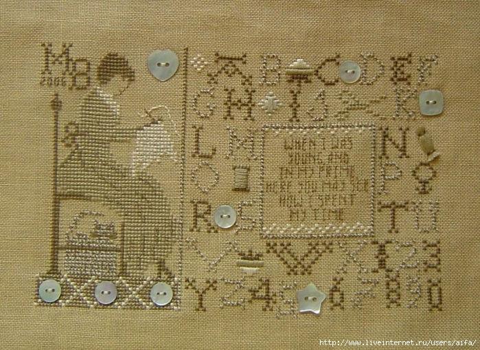 Вышивка крестом, схемы Сэмплер вышивальщицы1.