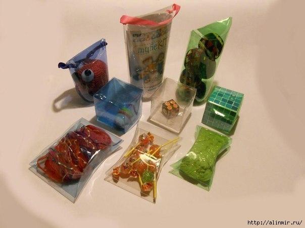Коробочки для подарков из пластиковых бутылок2 (604x453, 103Kb)