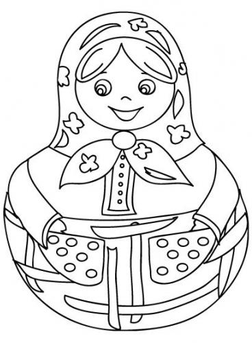 Рисунки для росписи матрешки