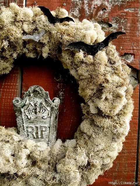 Halloween Wreath, Howling Moon Wreath 2 (480x640, 412Kb)