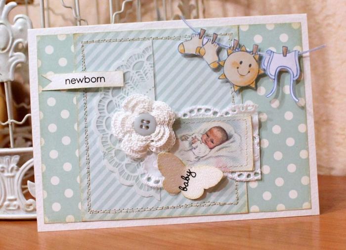 Открытки с новорождённым скрапбукинг