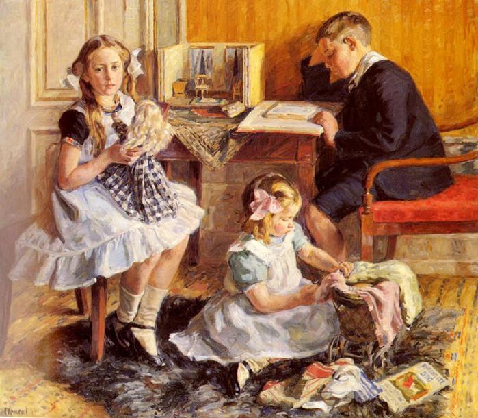 Gad Frederik Clement - Children's Pastimes (700x610, 84Kb)