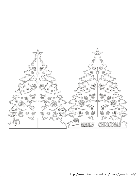 The Art of Kirigami CHRISTMASS TREE TWO PIECE (540x700, 122Kb)
