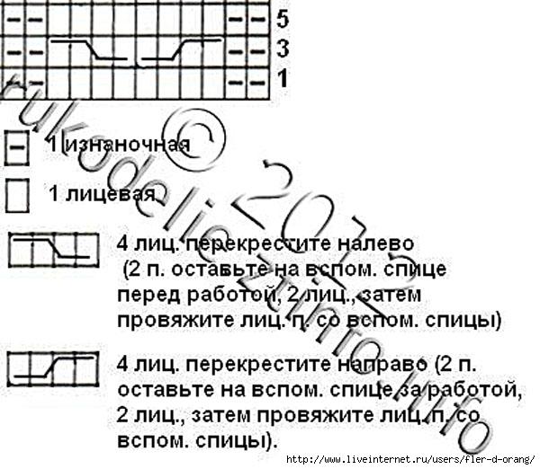 Белые-пинетки-с-косой-на-спицах-схема-косы (600x522, 162Kb)