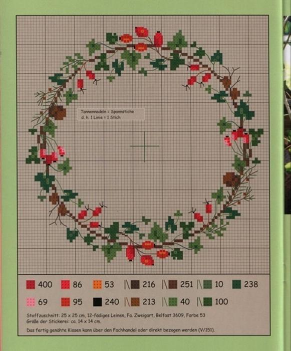 композицию вышить цветок крестиком из немецких журналов следует