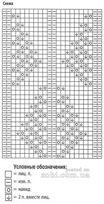 Вязание узором с обозначением 796