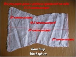 Многоразовый подгузник своими руками