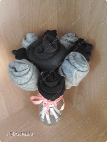 Как сделать розу из носков