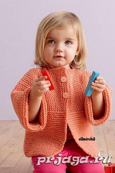 Детское вязаное платье спицами с молнией
