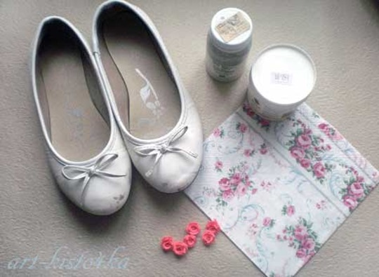 Как украсить старые балетки