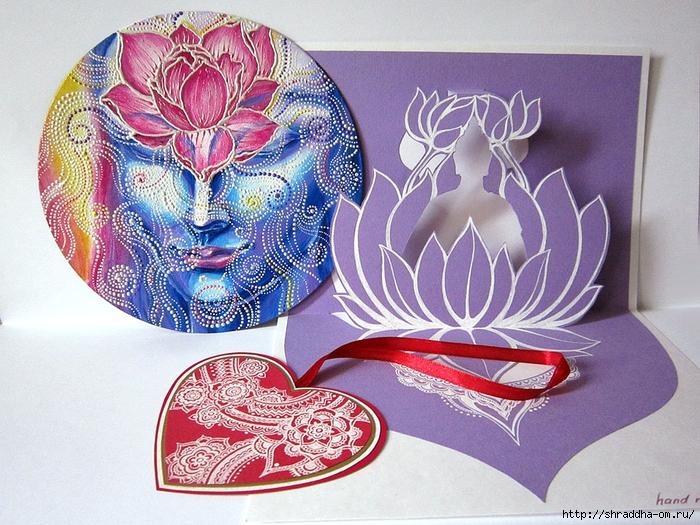 Медитация, автор Shraddha, акрил (1) (700x525, 369Kb)