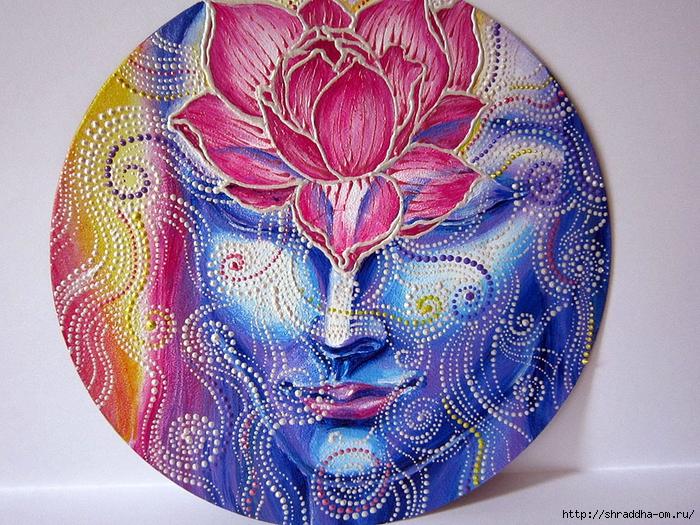 Медитация, автор Shraddha, акрил (2) (700x525, 423Kb)