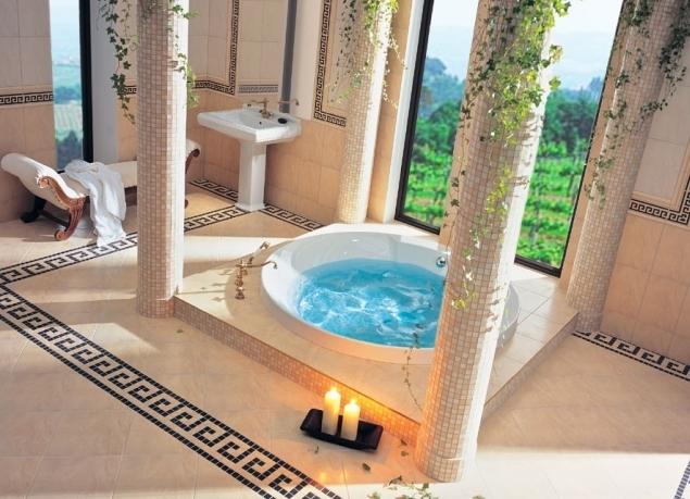 Дизайн ванной комнаты в греческом стиле