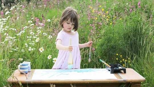 Чудесные картины трехлетней девочки-аутиста