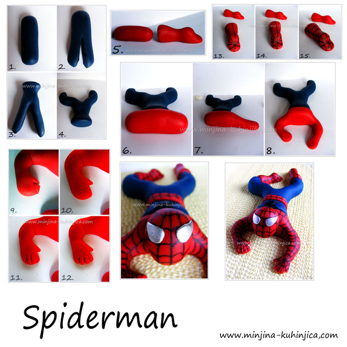 Человек -паук из мастики.
