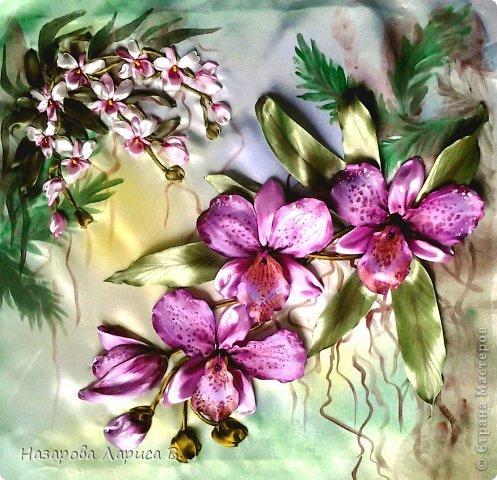 Мастер класс по вышивке орхидей лентами