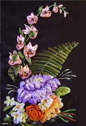 Вышивка лентами мастер класс орхидеи