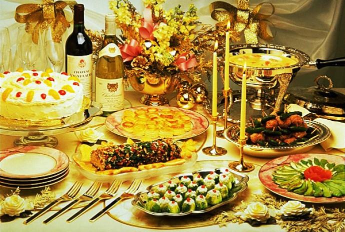 Праздничный ужин на день рожденияы