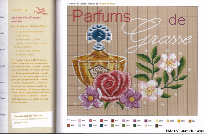 Французские мотивы схемы вышивок