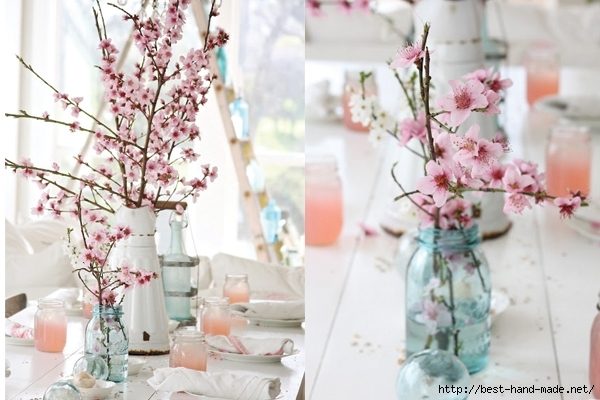 Blue-Mason-Jar-and-Cherry-Blossom-Tablescape (600x400, 181Kb)