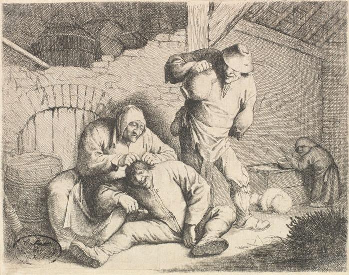 ловля блох в картинах художников 1 (700x551, 473Kb)