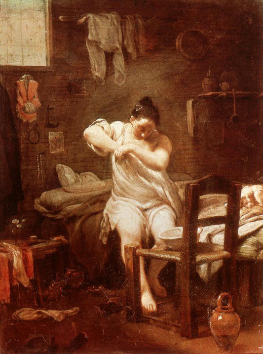 ловля блох в картинах художников 5 (519x700, 416Kb)