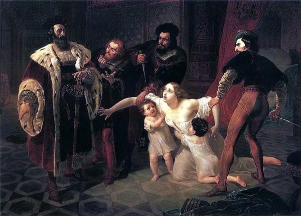 К. Брюллов(1794-1881) Смерть Инессы де Кастро (600x432, 90Kb)