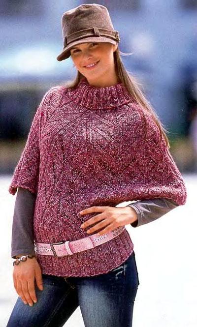 melanzhevyj-pulover-poncho_0 (400x665, 78Kb)